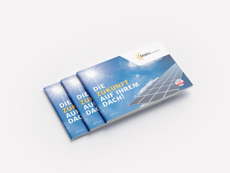 Maks Solartechnik Imagebroschüre