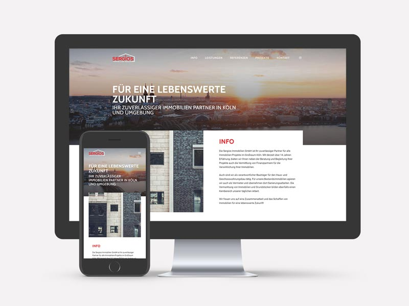 Sergios Immobilien Group Webseite