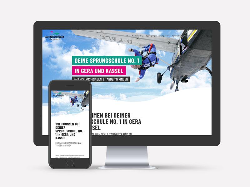Skydive.de Webseite
